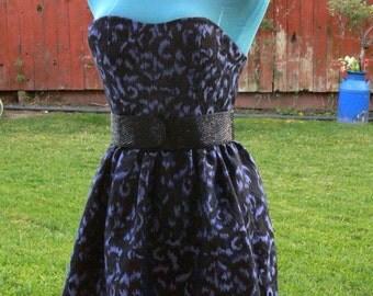 purple short strapless dress size 6-8