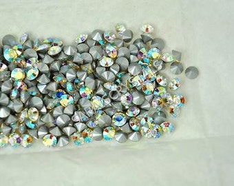 Swarovski Crystal Clear AB Rhinestones Pointed Back 25 pcs SS24 or SS26