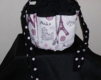 Paris France Bingo Bag/Organizer  Great Mother's Day gift!