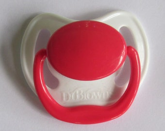 """Reborn Doll Putty Pacifier, """"Dr. Brown's"""" With Putty & Instructions"""