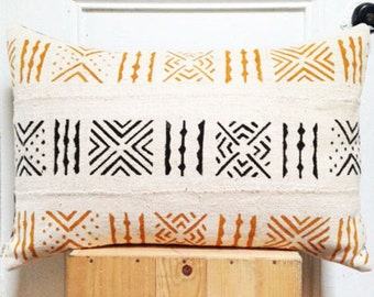 BOGOLAN Mud Cloth/ African Mudcloth Pillow Covers (various sizes)