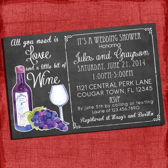 Printable wine theme couplescoed wedding shower invitation i il570xn filmwisefo