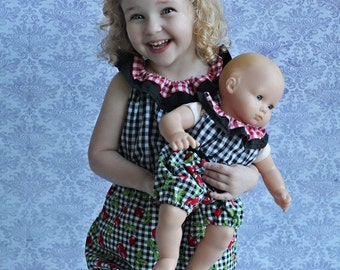 Whitney's Ruffle Neck Romper PDF Pattern for 15- and 18-inch Dolls
