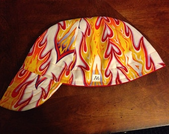 Large Flame Pin-Up Welding Cap