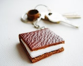 The Itsy Bitsy Traveller-Key Chain Journal-Leather-Tiny Book-Handmade-Gift Idea