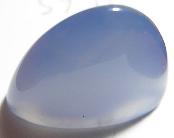 Namibian blue chalcedony   Designer cab  super high domed oval arch Marquis   AAA+ color and  Excellent clarity  21.65 ct.