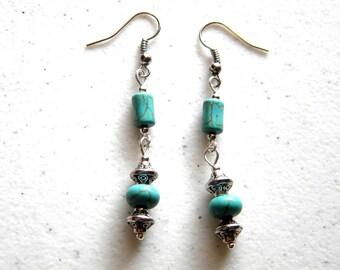 Double Turquoise Earrings