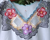 Vintage Mexican White Dress