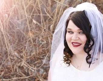 ADD ON Blusher veil, FREE shipping with any veil or hair accessory purchase.