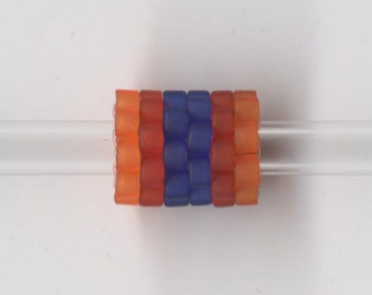 Woven Glass (Dread) Bead ... ... ... ... ... 10mm/o-7mm/i ... ... ... ... ... 12x16 * 204