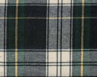 Cotton Flannel Plaid 2 Tartan Fabric by the Yard