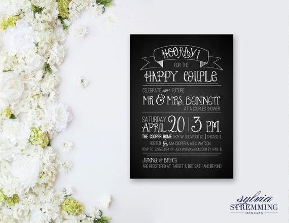 Target Wedding Invitations Kits: Rustic Chalkboard Couples Wedding Shower Invitation Custom
