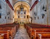 Mission San Jose Church,  San Antonio Texas - Available Sizes (5x7) (8x12) (12x18) (16x24) (24x36)
