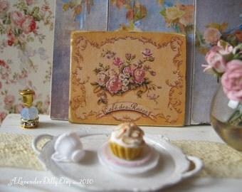 Cafe de Roses Sign for Dollhouse
