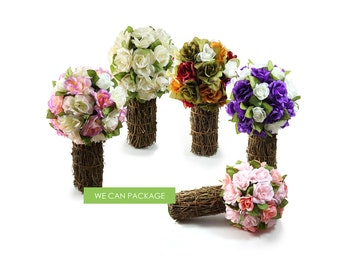 7 Inch Kissing Ball with Twig Vase Pomanders Centerpieces Ideas