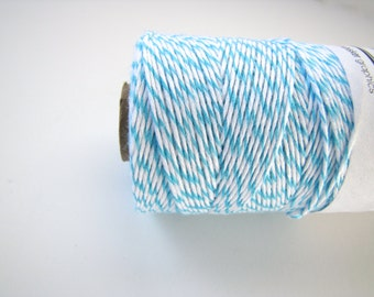 Aqua Divine Bakers Twine, turquoise bakers twine, blue white twine