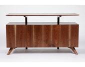 Mid Century Modern inspired Walnut Credenza