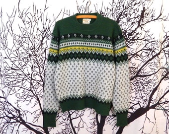Vintage 50s Campus Luxury Line Norwegian-Style Sweater Men's M