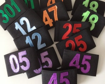 Team Armbands x 20 pairs, Custom Colours