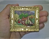 Country Cottage, Cross Stitch, miniature