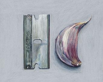 Goodfellas Thin Garlic. Giclée print.