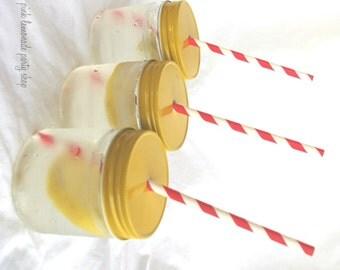 YEllowStraw Hole MaSoN JaR LiDS---6ct--use on regular mouth mason jars with paper straws-parties-weddings-showers