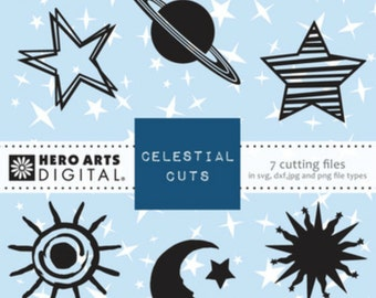 Hero Arts Celestial Cutting Files DT102