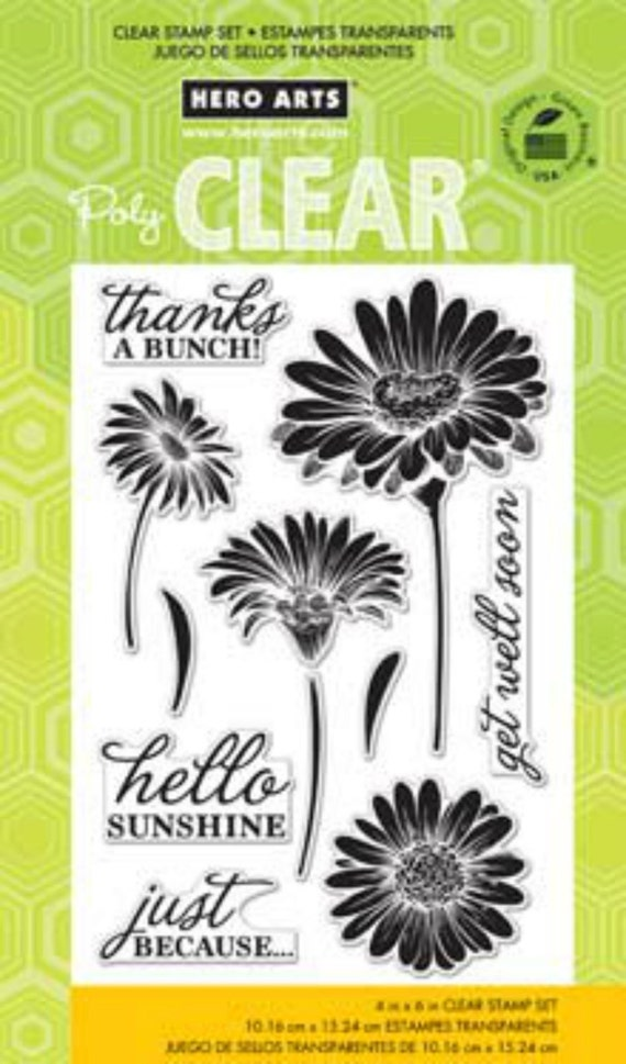 Hero Arts Hello Sunshine Daisies CL776 Clear stamps