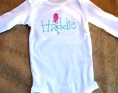 Sweet Embroidered one piece bodysuit for Baby Girls and Boys - Personalized FREE