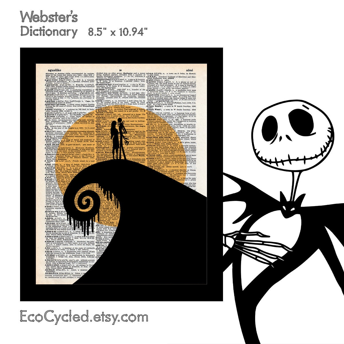 Nightmare Before Christmas 1 Jack & Sally Silhouette on