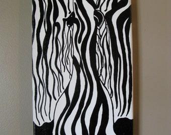 Original Painting, Zebras,  Zebra Painting, Wall Art, Home Decor, Zebra Art