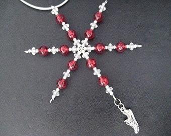Running Shoe Ornament - Running Christmas Ornament / Gift Tag - Choose Color - Runner Christmas Ornament - Running Christmas Ornament - Run