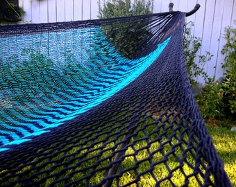 Double size, Hand woven Mexican hammock, 100% cotton string