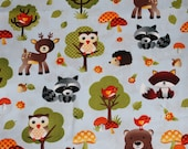 Ready to Ship: Woodland Animals and Minky Boppy Pillow Cover