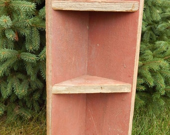 Barnwood  Corner Shelf - 24 inches tall, 3 shelves