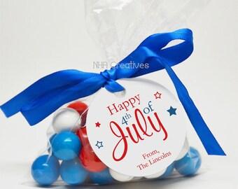 Fourth of July Favor Tag - Fireworks - Personalized DIY Printable Digital File