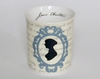 Jane Austen Tea Light Candle Holder - literary Gift, Writer Gift