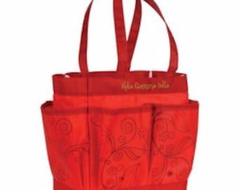 Chi Omega Sorority Shower Tote Caddy Craft Bag Christmas Stocking Stuffer Gift