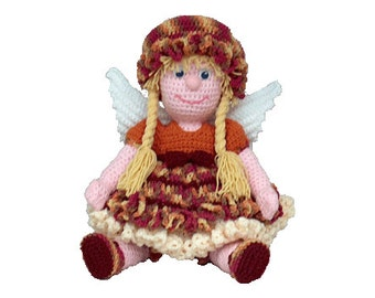"PDF Amigurumi Crochet Angel Pattern 16""  November Angel - (7334) Td creations"