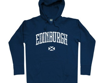 Edinburgh Hoodie - Men S M L XL 2x 3x - Edinburgh Scotland Hoody Sweatshirt - Scottish - 4 Colors