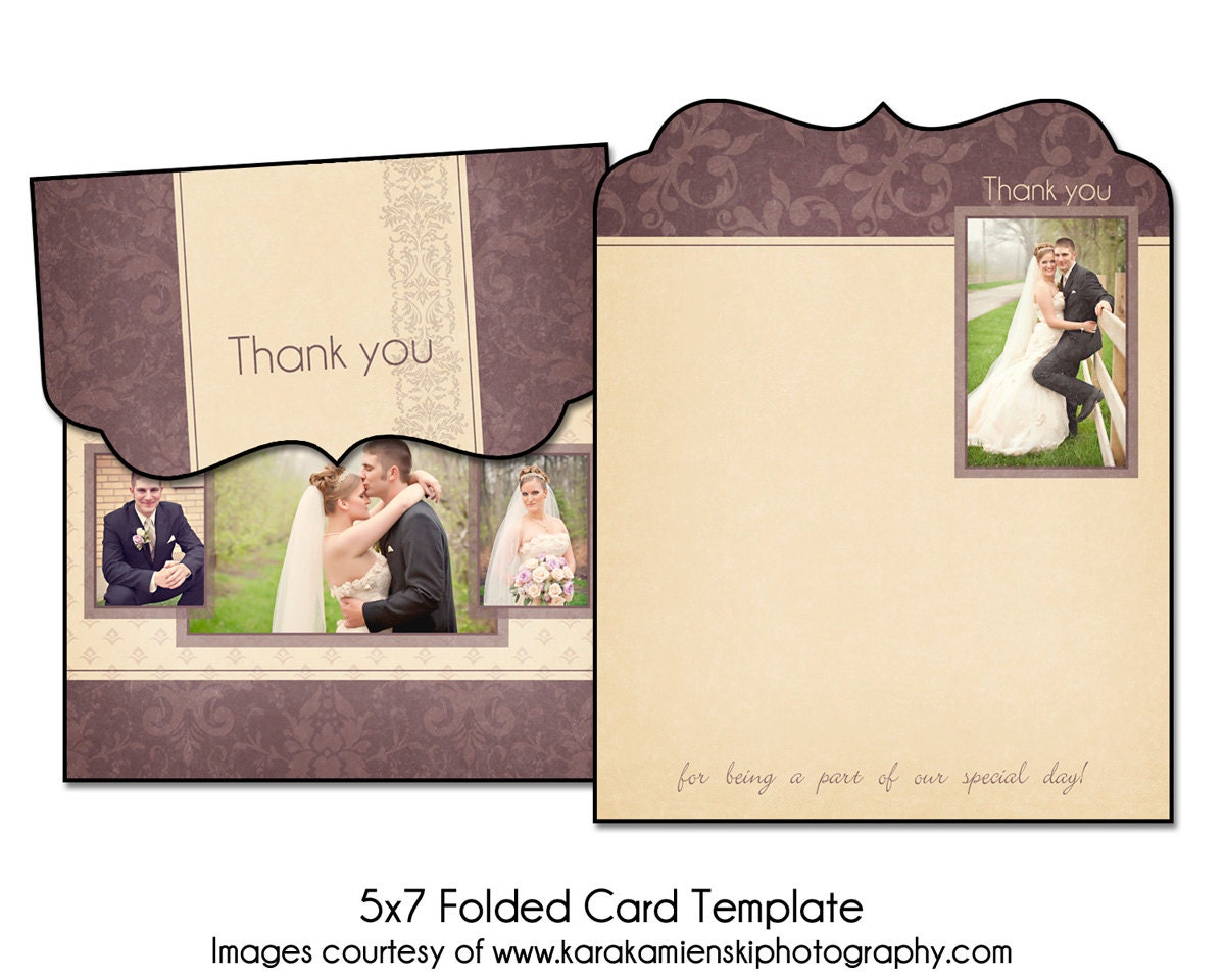 lilac love 5x7 folded thank you card template 2. Black Bedroom Furniture Sets. Home Design Ideas