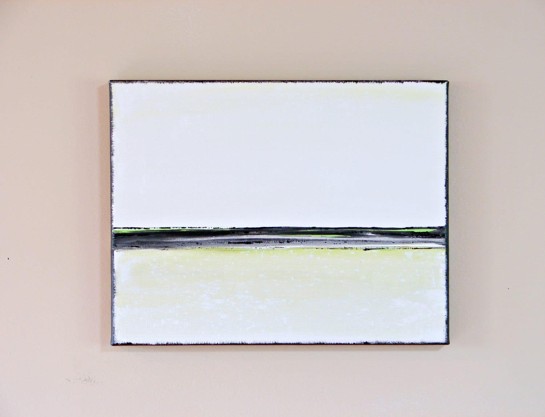 Lime Green Canvas Wall Art Modern Office Decor By Bendixenart