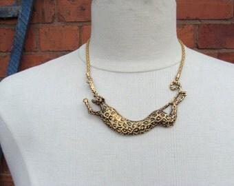 Vintage Style Leopard Necklace