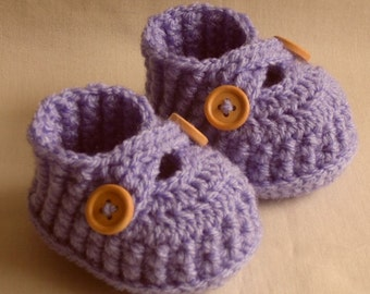 Crochet baby booties, baby shoes, for newborn, 0 to 3 month or 3 to 6 months- CHOOSE your SIZE