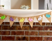 Easter Bunny Banner, Photography Prop, Bunnies, Easter Garland, Spring Banner