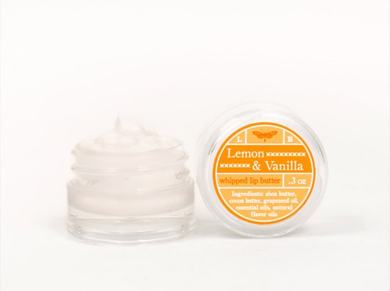 ON SALE - Lemon & Vanilla - Whipped Lip Butter - Natural Icing for Your Lips