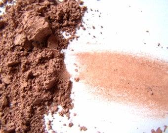 Mineral Rose Brown Matte Eyeshadow - Light Brown Eyeliner -  Vegan Shadow - Vegan Makeup