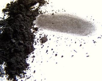 Mineral Makeup Eyeshadow - Jet Black Matte Eyeshadow - Goth Black Eyeliner - Jet Black Matte Shadow - Vegan Shadow -  Vegan Makeup