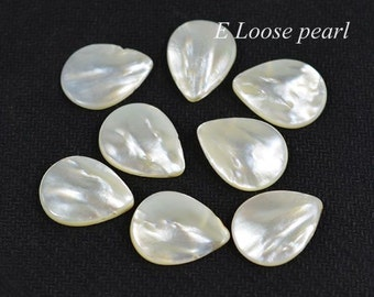 Freshwater Pearls Natural White Shell Petal Loose beads 15-16mm 39pcs Bridal design wedding Full Strand Item No : PL4209
