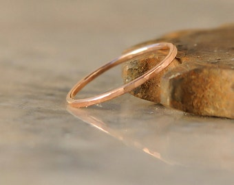 Minimalist Stacking Ring - Stack Ring - Thin Rose Gold Stackable Ring